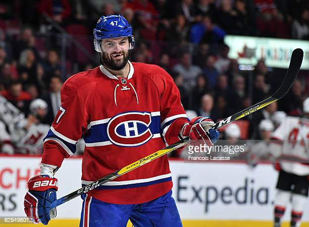 Alexander Radulov of the Montreal Canadiens during the NHL game against the New Jersey Devils in the NHL game at the Bell Centre on December 8 2016...