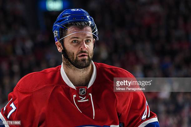 Alexander Radulov of the Montreal Canadiens looks on during the NHL game against the Arizona Coyotes at the Bell Centre on October 20 2016 in...