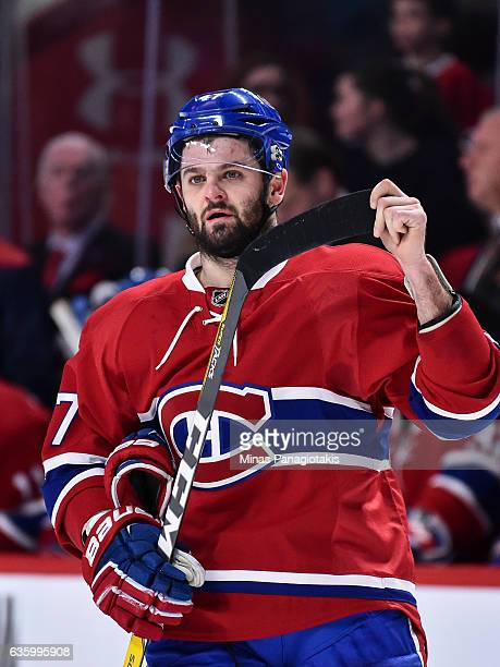 Alexander Radulov of the Montreal Canadiens looks on during the NHL game against the Boston Bruins at the Bell Centre on December 12 2016 in Montreal...