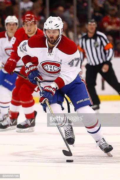 Alexander Radulov of the Montreal Canadiens skates against the Detroit Red Wings at Joe Louis Arena on January 16 2017 in Detroit Michigan