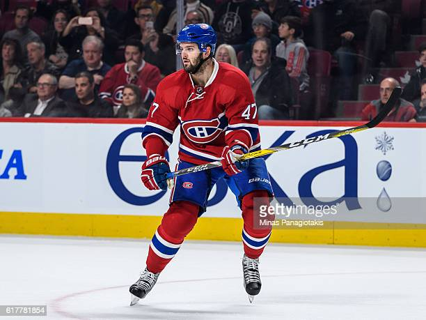 Alexander Radulov of the Montreal Canadiens skates during the NHL game against the Arizona Coyotes at the Bell Centre on October 20 2016 in Montreal...