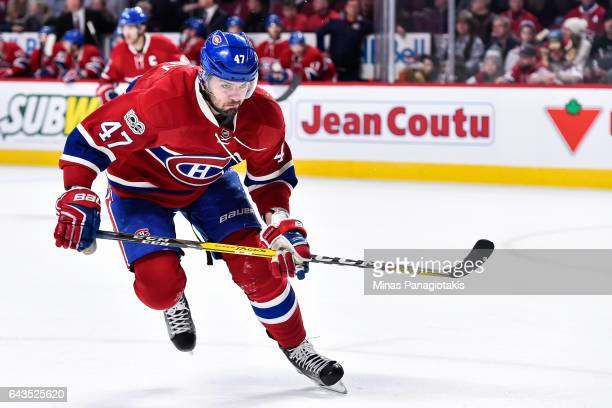 Alexander Radulov of the Montreal Canadiens skates during the NHL game against the Winnipeg Jets at the Bell Centre on February 18 2017 in Montreal...