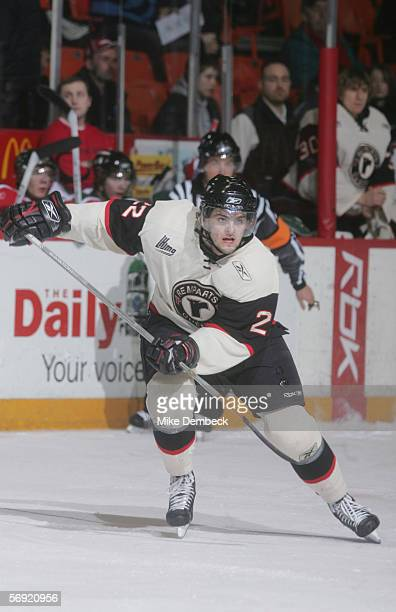 Alexander Radulov of the Quebec Remparts skates against the Halifax Mooseheads on February 18, 2006 at the Halifax Metro Centre in Halifax, Nova...