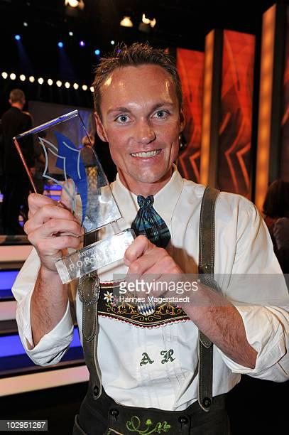 Alexander Resch receives the Bavarian Sport Award 2010 at the International Congress Center Munich on July 17 2010 in Munich Germany