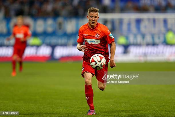 Alexander Ring of Kaiserslautern runs with the ball during the Second Bundesliga match between VfL Bochum and 1 FC Kaiserslautern at Rewirpower...