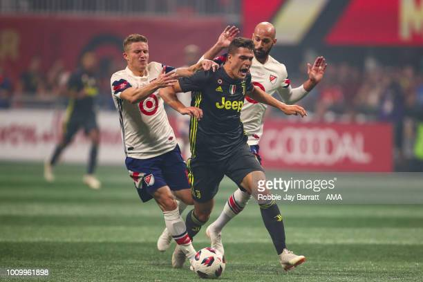 Alexander Ring of MLS All Stars and Andrea Favilli of Juventus during the 2018 MLS AllStars game between Juventus v MLS AllStars at MercedesBenz...
