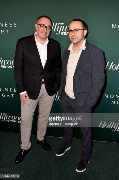 Alexander Rodnyansky and Andrey Zvyagintsev attend The Hollywood Reporter 6th Annual Nominees Night at CUT on February 5 2018 in Beverly Hills...