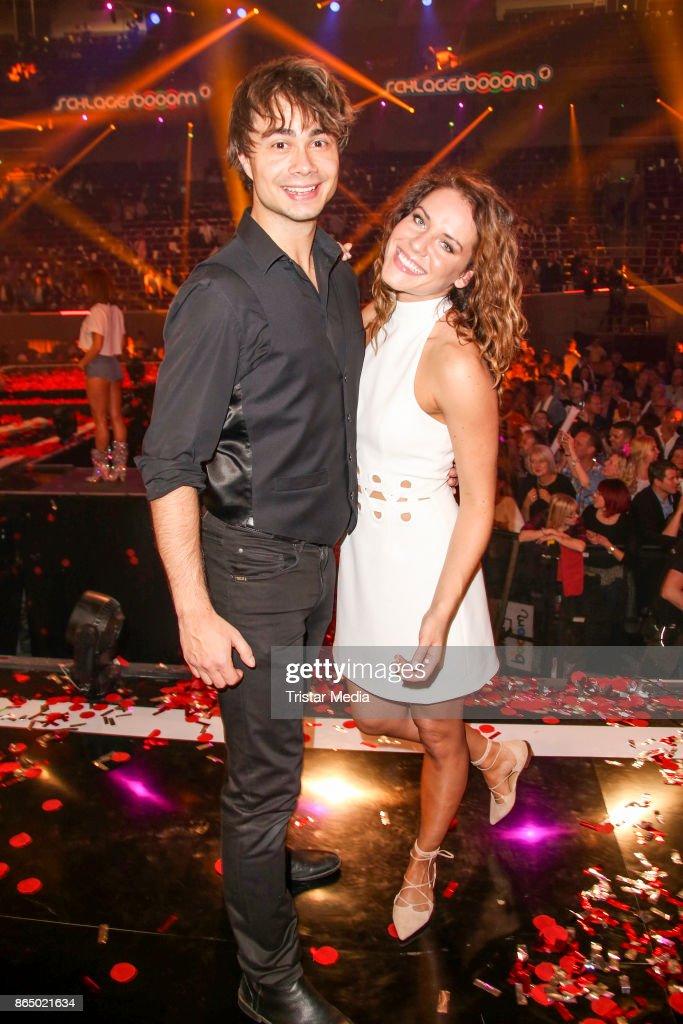 Alexander Rybak and Franziska Wiese during the 'Schlagerboom - Das Internationale Schlagerfest' at Westfalenhalle on October 21, 2017 in Dortmund, Germany.