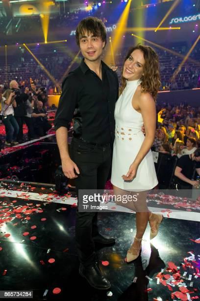 Alexander Rybak and Franziska Wiese performs the 'Schlagerboom Das Internationale Schlagerfest' at Westfalenhalle on October 21 2017 in Dortmund...