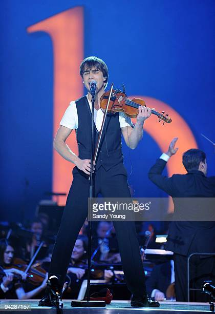 Alexander Rybak performs during the Nobel Peace Prize Concert at Oslo Spektrum on December 11 2009 in Oslo Norway Tonight's Nobel Peace Prize Concert...