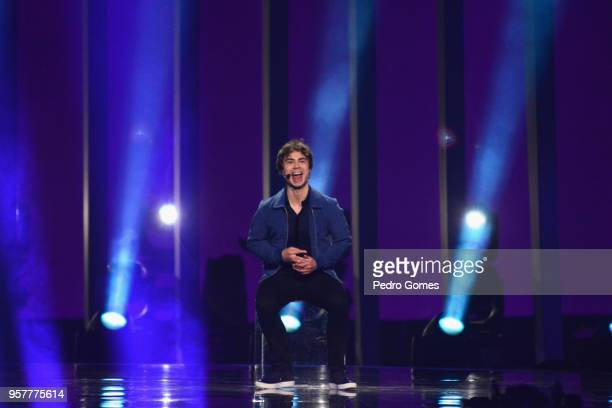 Alexander Rybak representing Norway performs at Altice Arena on May 12 2018 in Lisbon Portugal