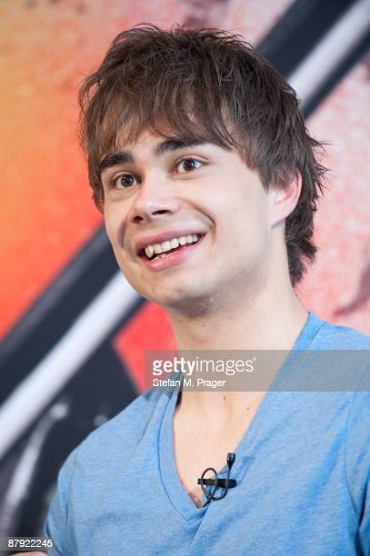 Alexander Rybak winner of the Eurovision Song Contest 2009 attends a press conference at Hotel Bayerischer Hof on May 22 2009 in Munich Germany