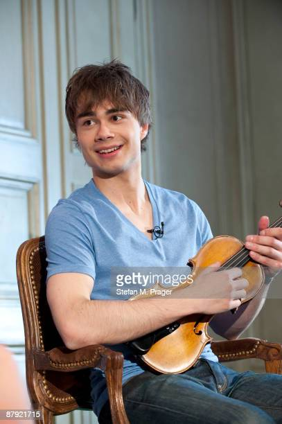 Alexander Rybakm winner of the Eurovision Song Contest 2009 attends a press conference at Hotel Bayerischer Hof on May 22 2009 in Munich Germany