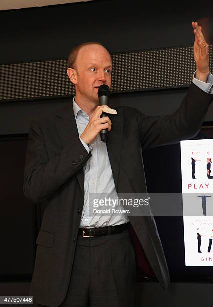 Alexander SaintAmand CEO of GLG speaks during the book release party for Gina Barnett's Play the Part at GLG on June 17 2015 in New York City