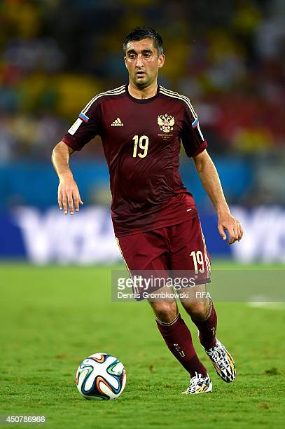 Alexander Samedov of Russia in action during the 2014 FIFA World Cup Brazil Group H match between Russia and Korea Republic at Arena Pantanal on June...