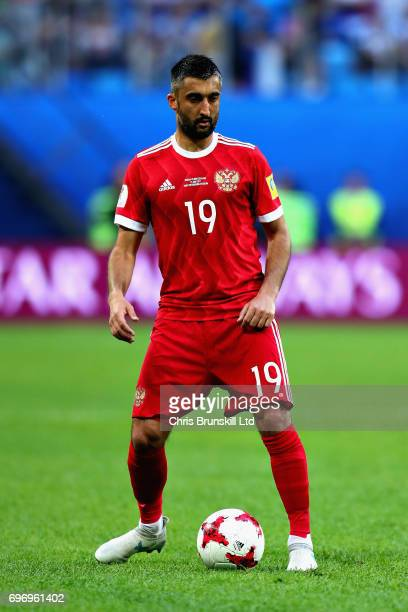 Alexander Samedov of Russia in action during the 2017 FIFA Confederations Cup Russia Group A match between Russia and New Zealand at Saint Petersburg...