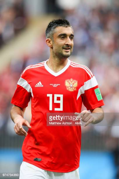 Alexander Samedov of Russia in action during the 2018 FIFA World Cup Russia group A match between Russia and Saudi Arabia at Luzhniki Stadium on June...