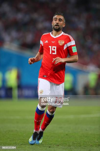 Alexander Samedov of Russia in action during the 2018 FIFA World Cup Russia Quarter Final match between Russia and Croatia at Fisht Stadium on July 7...