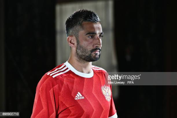 Alexander Samedov of Russia is seen behind the scenes of a filming shoot during a portrait session at the Lotte Hotel on June 13 2017 in Moscow Russia