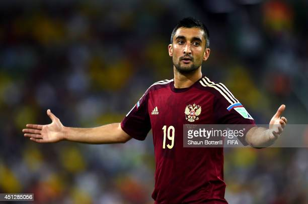 Alexander Samedov of Russia reacts during the 2014 FIFA World Cup Brazil Group H match between Algeria and Russia at Arena da Baixada on June 26 2014...