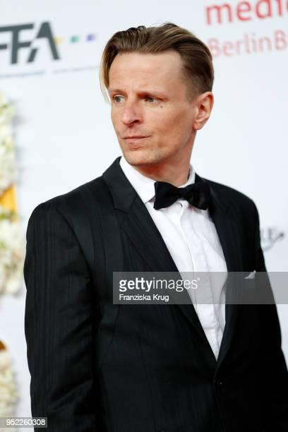 Alexander Scheer attends the Lola German Film Award red carpet at Messe Berlin on April 27 2018 in Berlin Germany