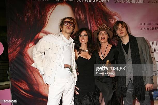 """Alexander Scheer, Natalia Avelon, Uschi Obermaier And Victor Noren at the """"The Wild Life"""" movie premiere in Mathäser In Munich."""