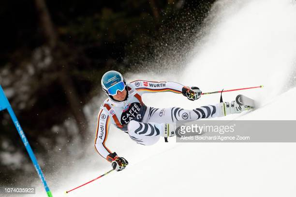 Alexander Schmid of Germany competes during the Audi FIS Alpine Ski World Cup Men's Giant Slalom on December 16 2018 in Alta Badia Italy