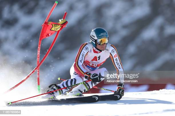Alexander Schmid of Germany competes during the Audi FIS Alpine Ski World Cup Men's Giant Slalom at Rettenbachferner on October 27 2019 in Soelden...