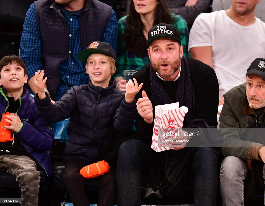 Celebrities Attend The New York Knicks Vs Minnesota Timberwolves Game