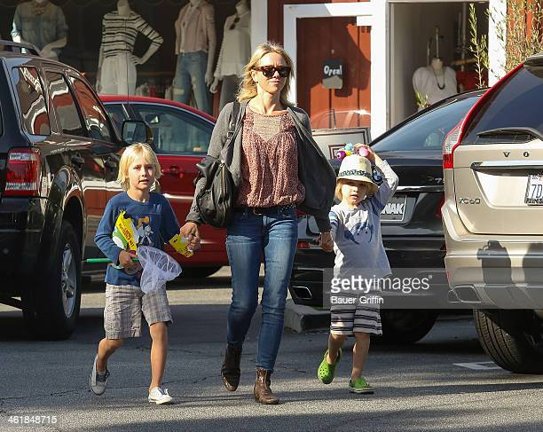 Alexander Schreiber Naomi Watts and Samuel Schreiber are seen on January 11 2014 in Los Angeles California
