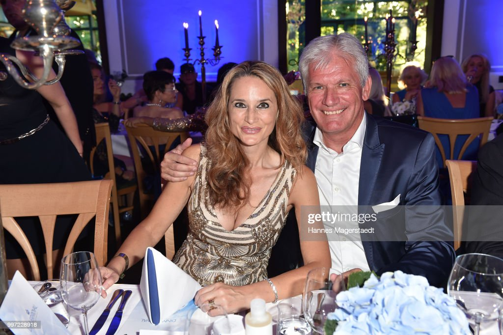 Alexander Schuhmacher and his wife Stefanie Schuhmacher during the dinner Royal at the Gruenwalder Einkehr on July 12, 2018 in Munich, Germany.