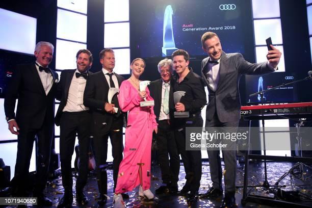 Alexander Schuhmacher Philip Greffenius Til Schweiger Lina Larissa Strahl Egon Wellenbrink Nico Santos Kai Pflaume during the Audi Generation Award...