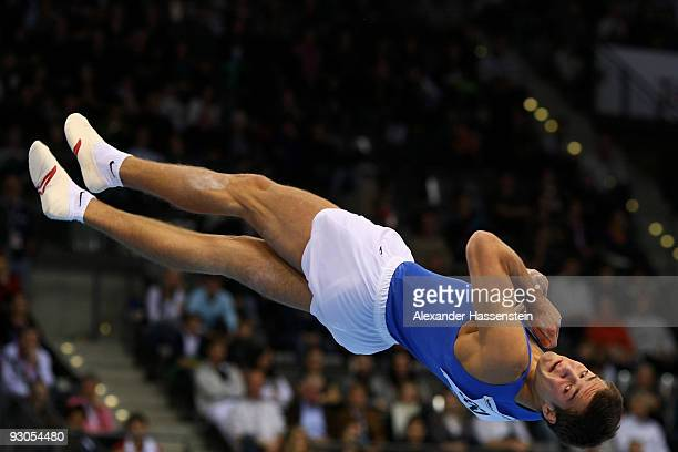 Alexander Shatilov of Israel competes at the floor during day one of the EnBW Gymnastics World Cup 2009 at the Porsche Arena on November 14 2009 in...