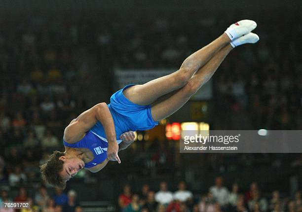 Alexander Shatilov of Israel competes in the men's Floor final of the 40th World Artistic Gymnastics Championships on September 8 2007 at the...