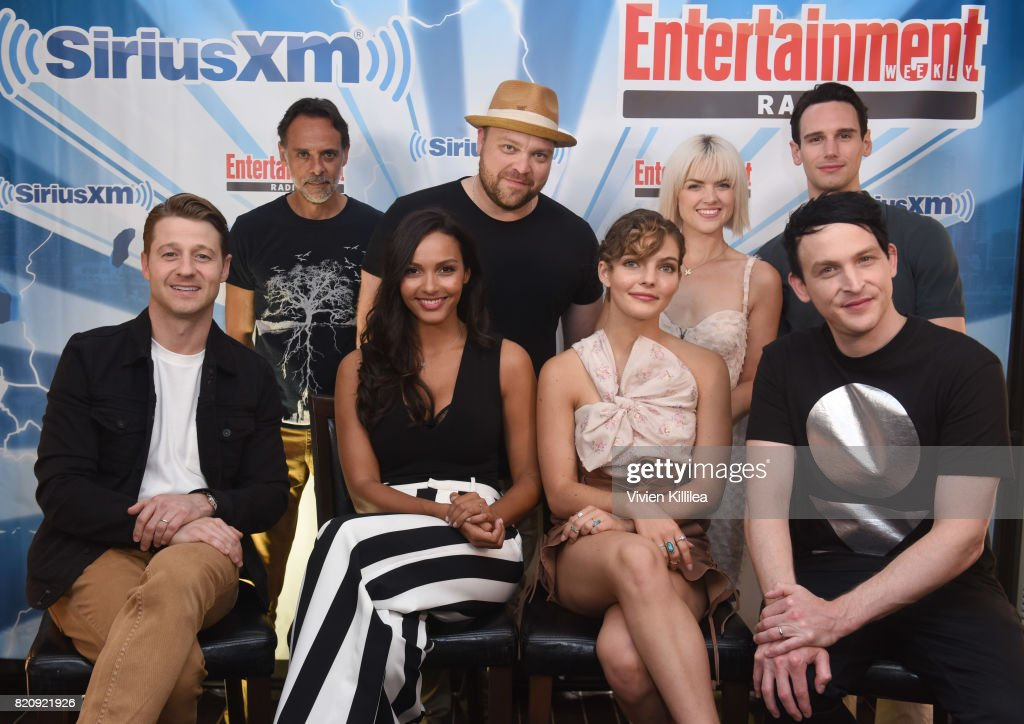 Alexander Siddig, Drew Powell, Erin Richards, Cory Michael Smith, Ben McKenzie, Jessica Lucas, Camren Bicondova and Robin Lord Taylor attend SiriusXM's Entertainment Weekly Radio Channel Broadcasts From Comic Con 2017 at Hard Rock Hotel San Diego on July 22, 2017 in San Diego, California.