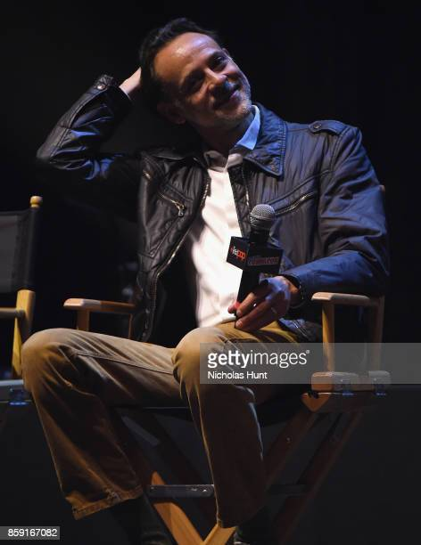 Alexander Siddig speaks onstage at the Gotham Panel during the 2017 New York Comic Con on October 8 2017 in New York City