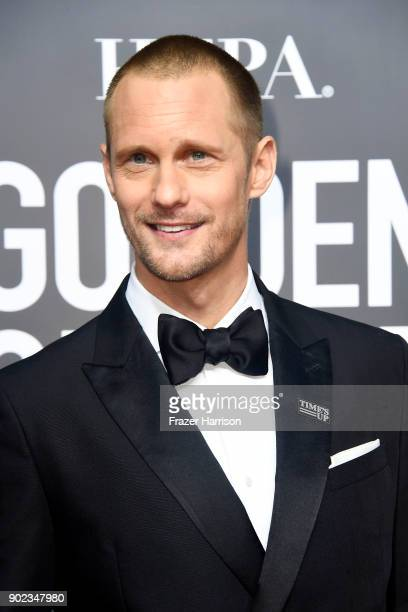 Alexander Skarsgaard attends The 75th Annual Golden Globe Awards at The Beverly Hilton Hotel on January 7 2018 in Beverly Hills California