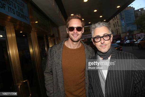 Alexander Skarsgard and Alan Cumming pose at the opening night of the new play 'The Ferryman' on Broadway at The Bernard B Jacobs Theatre on October...