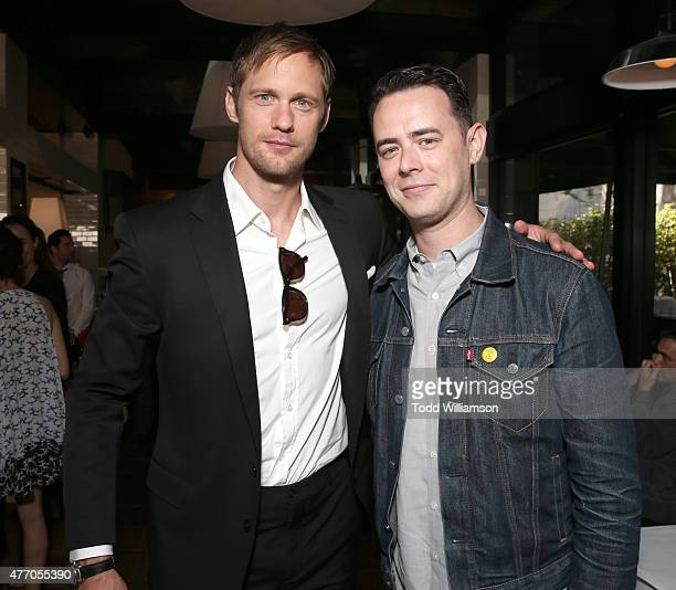 Alexander Skarsgard and Colin Hanks attend a prereception for the 2015 Los Angeles Film Festival Premiere Of The Diary Of A Teenage Girl at Casa...