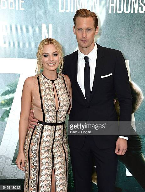 Alexander Skarsgard and Margot Robbie attend the European premiere of The Legend Of Tarzan at Odeon Leicester Square on July 5 2016 in London England