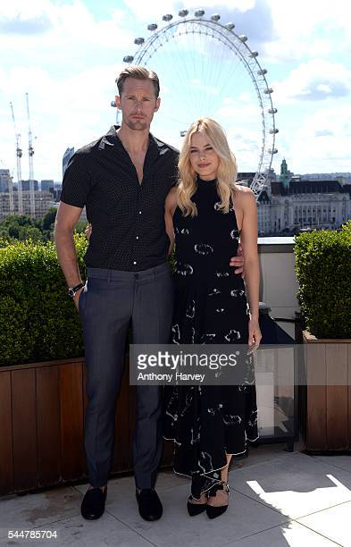 Alexander Skarsgard and Margot Robbie attend the photocall for 'The Legend Of Tarzan' at Corinthia London on July 4 2016 in London England