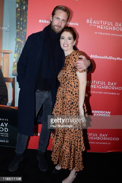 Alexander Skarsgard and Marielle Heller attend New York Special Screening Of A Beautiful Day In The Neighborhood at Henry R Luce Auditorium at...