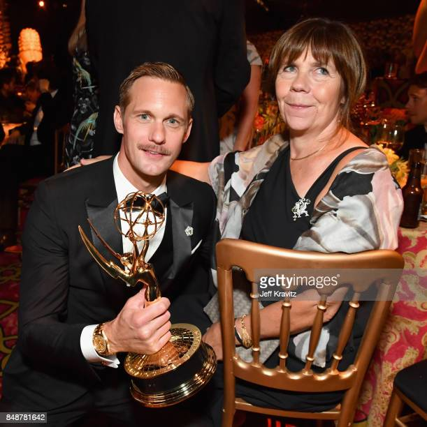 Alexander Skarsgard and My Skarsgard attend the HBO's Official 2017 Emmy After Party at The Plaza at the Pacific Design Center on September 17 2017...