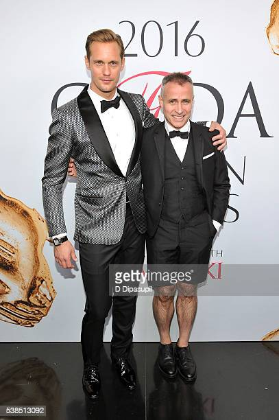 Alexander Skarsgard and Thom Browne attend the 2016 CFDA Fashion Awards at the Hammerstein Ballroom on June 6 2016 in New York City