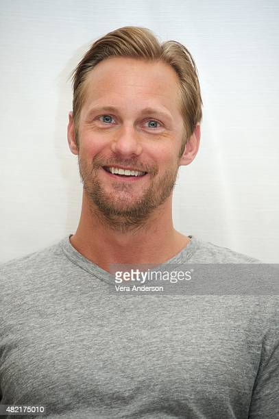 Alexander Skarsgard at The Diary Of A Teenage Girl Press Conference at the Four Seasons Hotel on July 27 2015 in Beverly Hills California