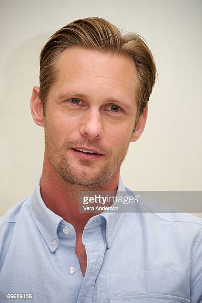 """Alexander Skarsgard at """"The East"""" Press Conference at the Four Seasons Hotel on May 28, 2013 in Beverly Hills, California."""