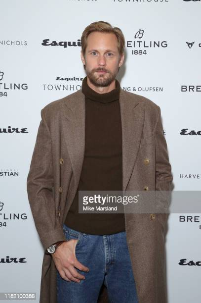 Alexander Skarsgard attends Esquire Townhouse on October 19, 2019 in London, England.