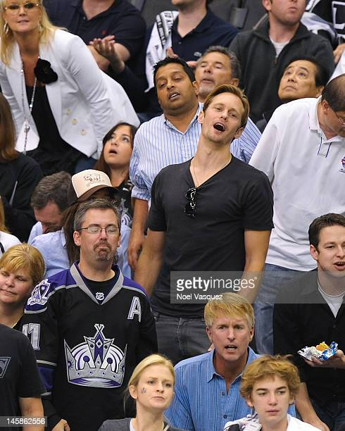 Alexander Skarsgard attends game four of the 2012 Stanley Cup Final between the Los Angeles Kings and the New Jersey Devils at Staples Center on June...