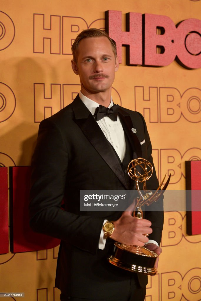 Alexander Skarsgard attends HBO's Post Emmy Awards Reception at The Plaza at the Pacific Design Center on September 17, 2017 in Los Angeles, California.