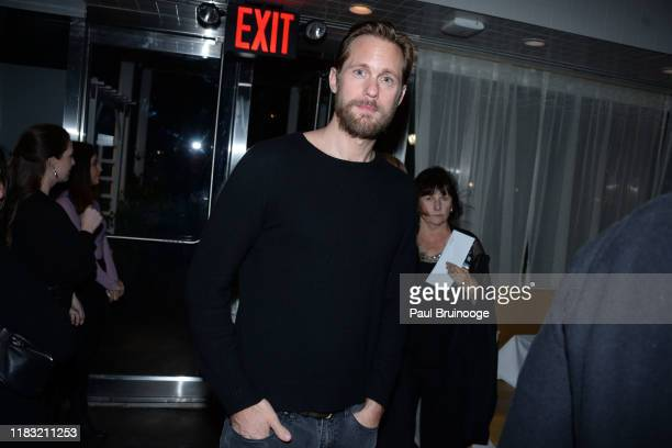 Alexander Skarsgard attends New York Special Screening Of A Beautiful Day In The Neighborhood After Party at Le District Restaurant on November 17...